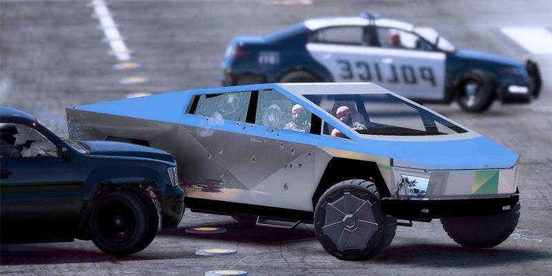 Покататься на Tesla Cybertruck в GTA 5